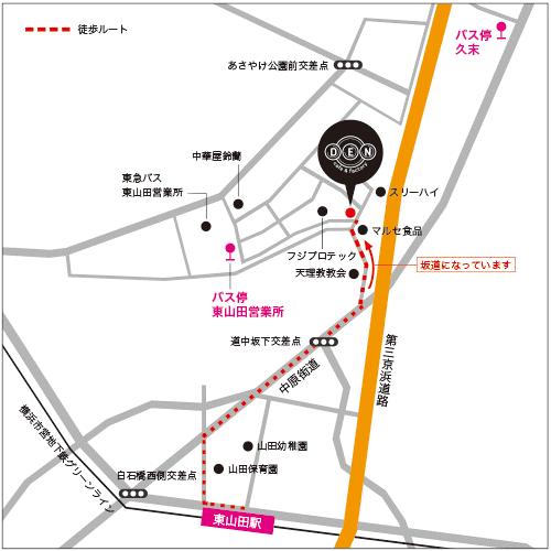 カフェ「DEN」地図