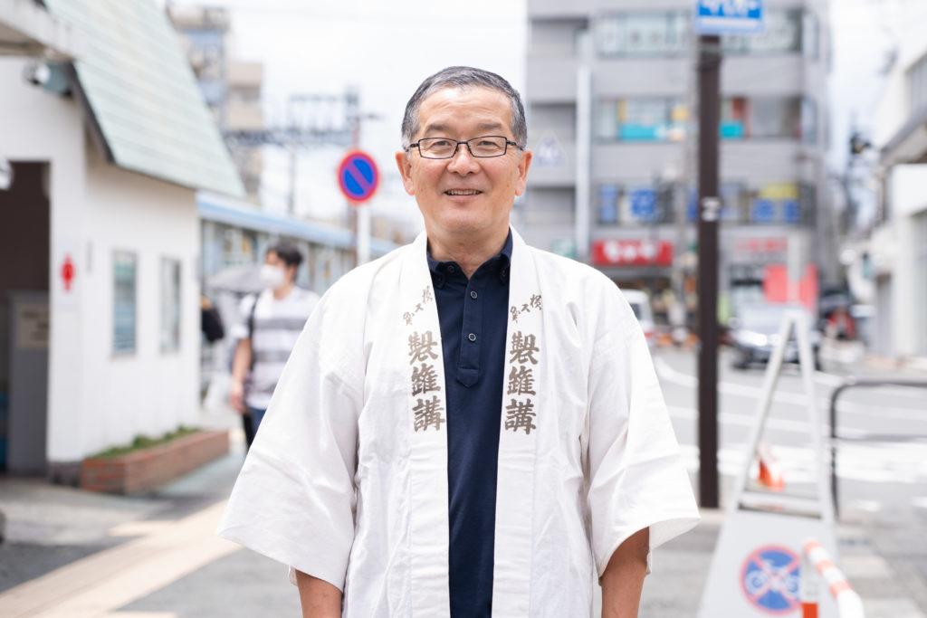 伊勢原市観光協会局長の志村さん