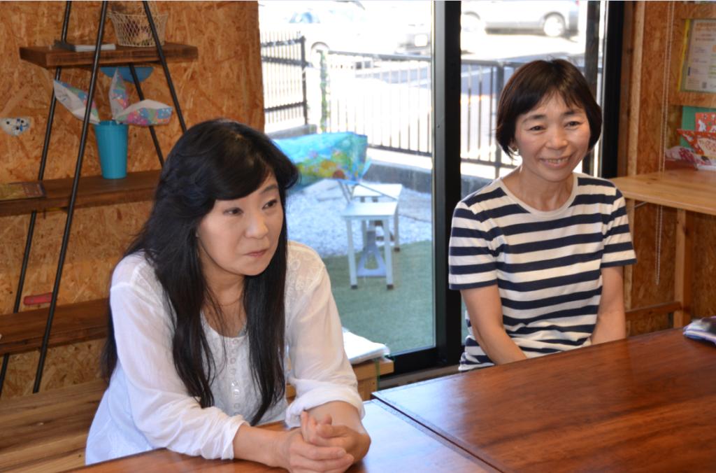 理事長の堀さんと副理事長の本江さん