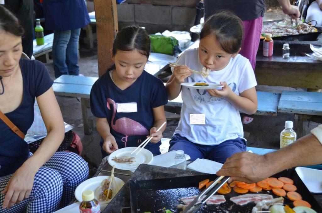 神奈川のすくすくパン豚バーベキュー交流会の様子