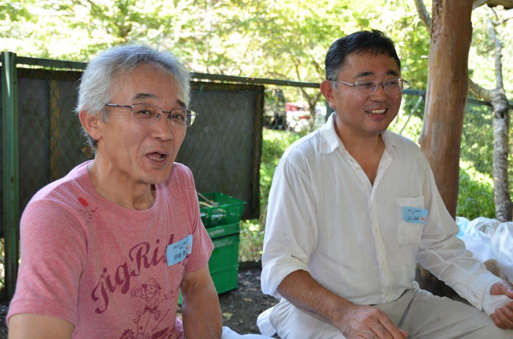 山口養豚場の山口さんと伊藤さん