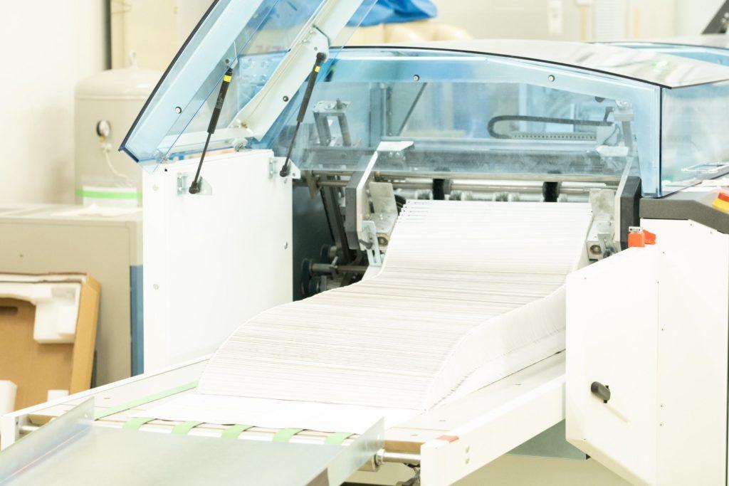 とても大きい印刷機