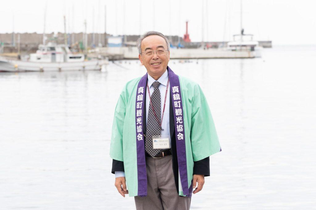 真鶴観光協会専務理事の有澤敏勝(ありさわとしかつ)さん
