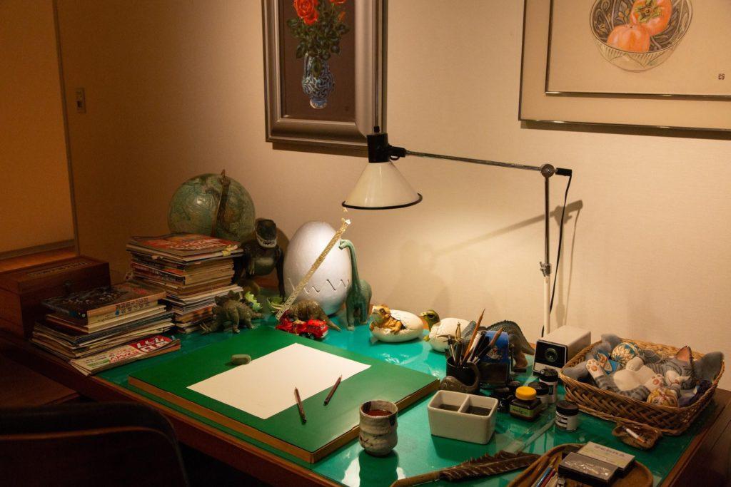藤子先生の仕事机の展示