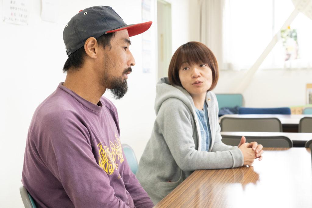 これからのジョイファーム小田原について語る安藤さんと大須さん