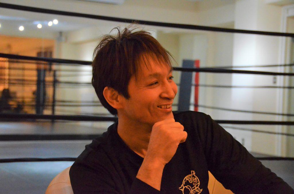 ボクシングについて語る佐藤さん