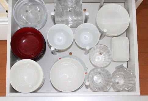 食器の収納の例