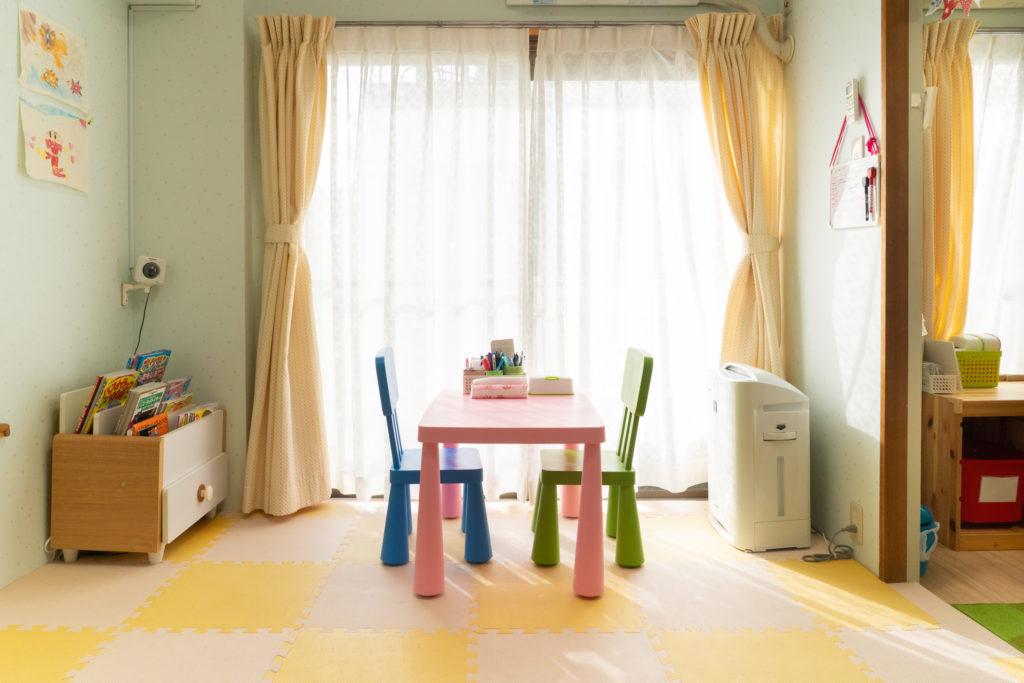 託児所内のモニターの様子