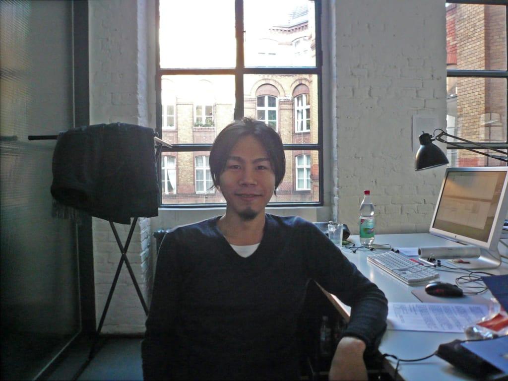 ベルリンの建築事務所での中村さん