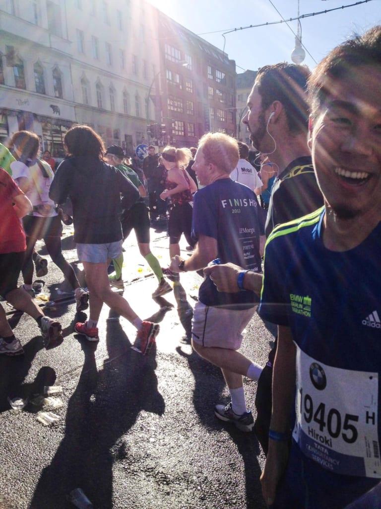 ベルリンマラソンに参加されたときの中村さん