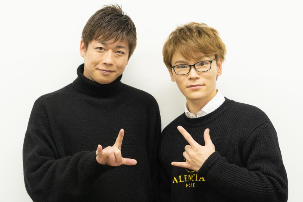 HANDSIGN(ハンドサイン)のTATSUさんとSHINGOさん(