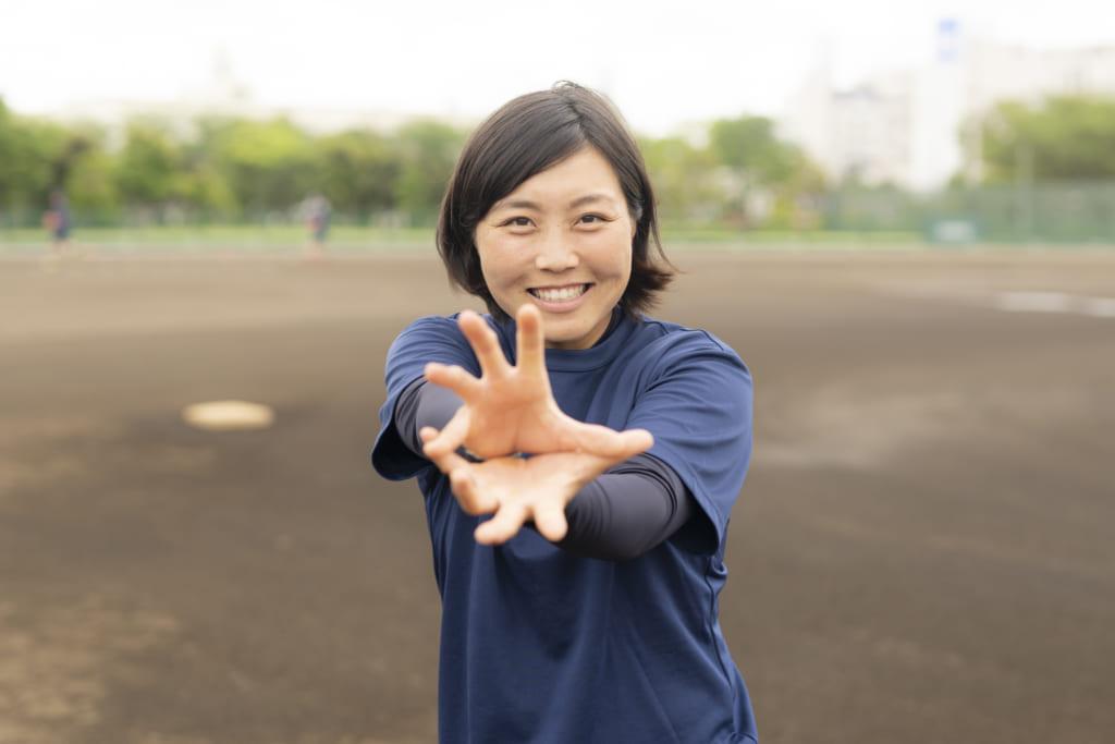 チームをキャプテンとして支える日本女子ソフトボールリーグ 日立サンディーバ清原 奈侑(キヨハラ ナユ)さんのインタビューの画像