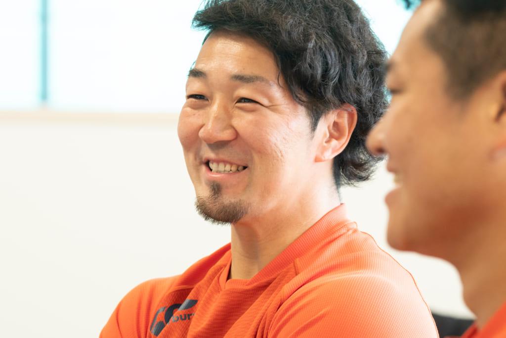 ケガについて語る阿久田選手