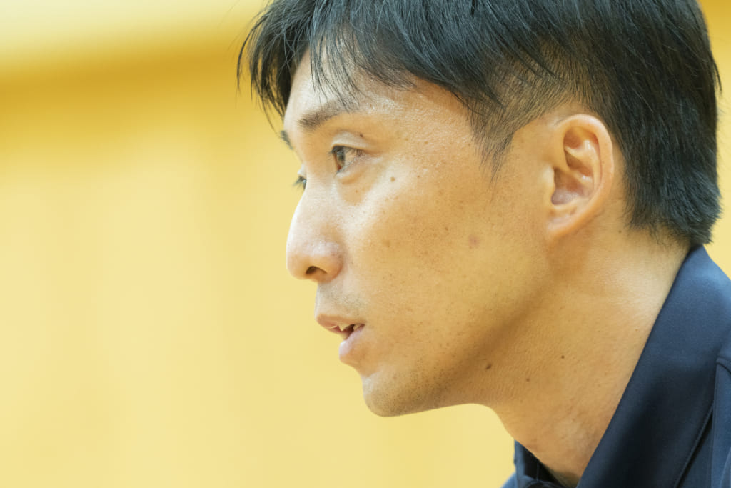 アシスタントコーチについて語る宮永さん