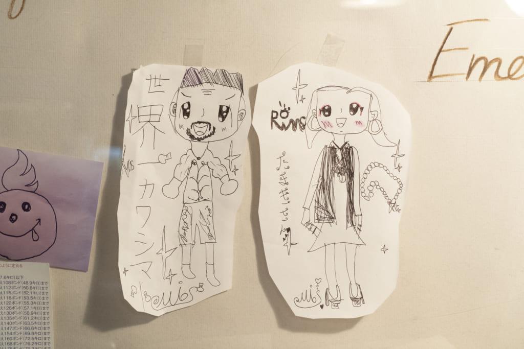 川嶋勝重さんと奥様の環さんの似顔絵