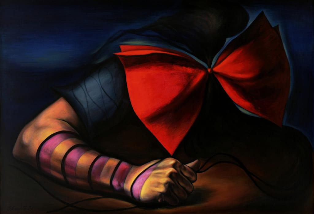 岡本太郎《傷ましき腕》1936年1949年再制作油彩・キャンバス