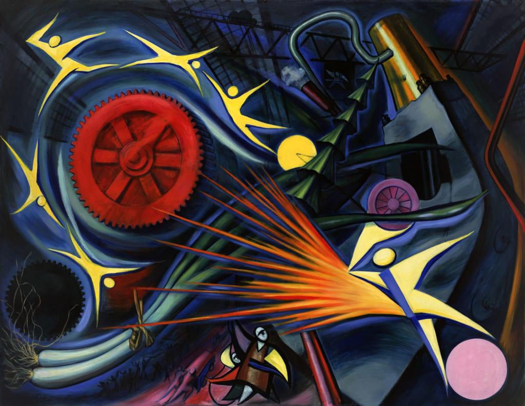 岡本太郎《重工業》1949年油彩・キャンバス