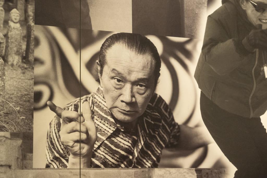 美術館にある太郎さんの写真