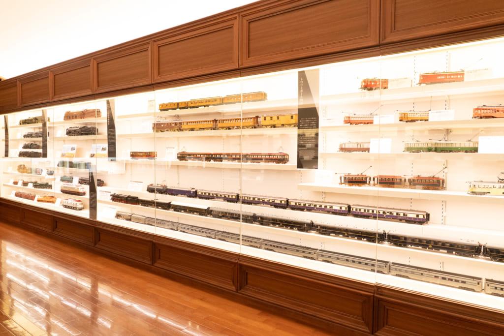 展示されている鉄道模型の一部
