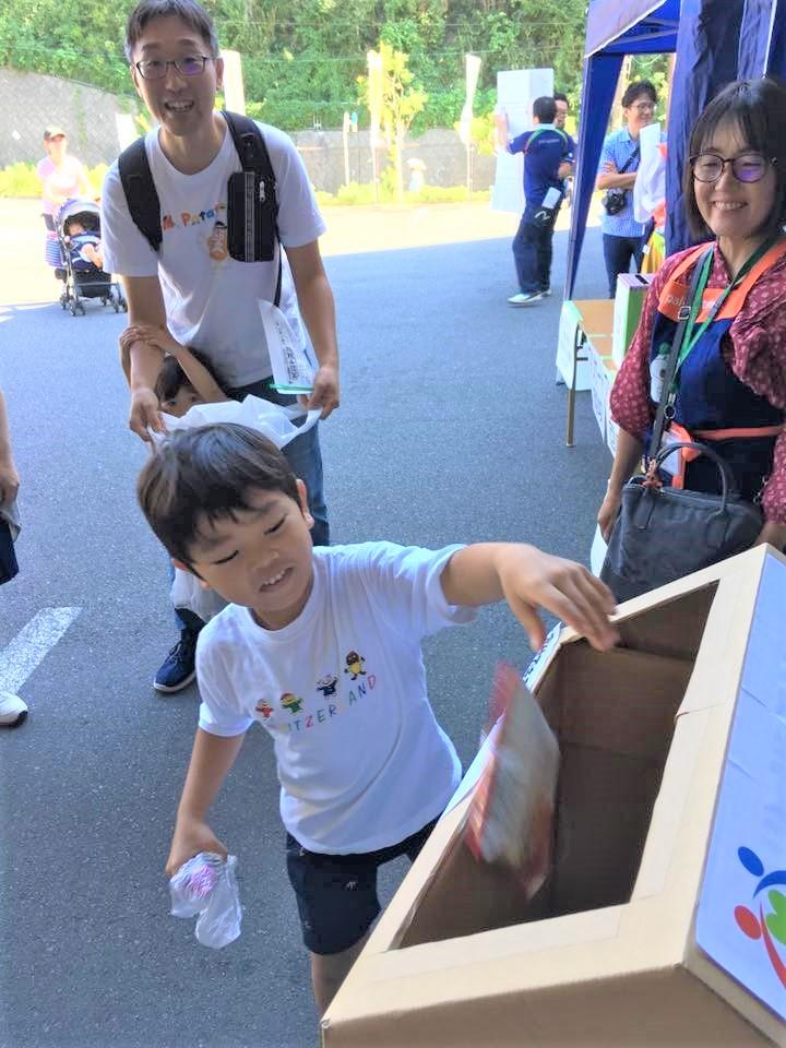 パルシステム横須賀センター祭でのフードドライブの様子
