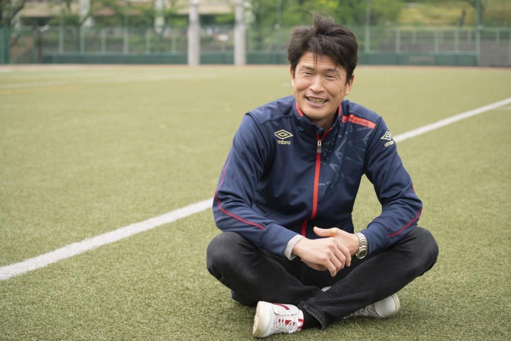 会社を設立し、大学サッカーチームの運営とサッカーを通じた地域活性化に取り組む株式会社s&k代表の白須 真介さんインタビューの画像