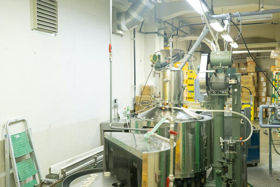 オリツルサイダー作りを支えている現在のサイダー製造機械