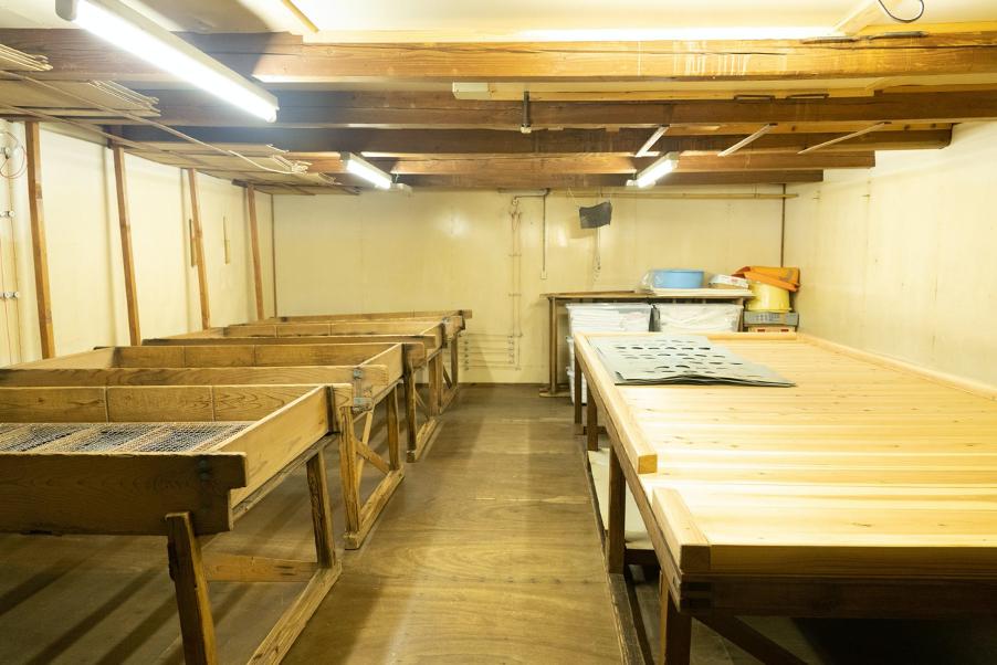 清水酒造は日本酒造りにおいて要の工程である麹作りにもこだわっている
