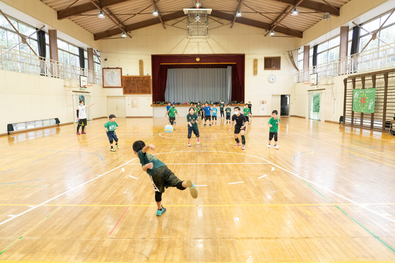 海老名市を拠点とする小学生チームの新星☆絆の練習風景