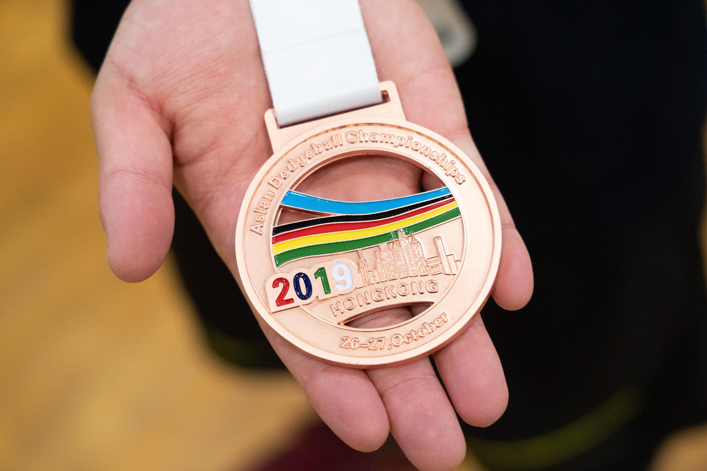 2019年に香港で行われた大会の銅メダル