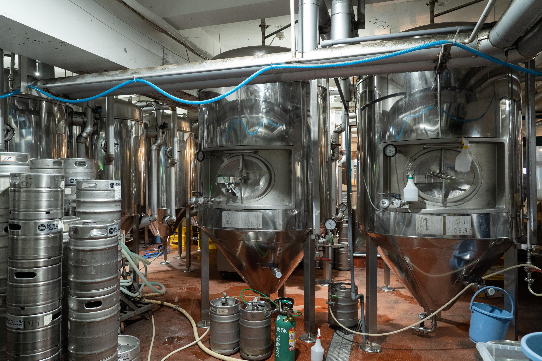 横浜ビールの醸造設備
