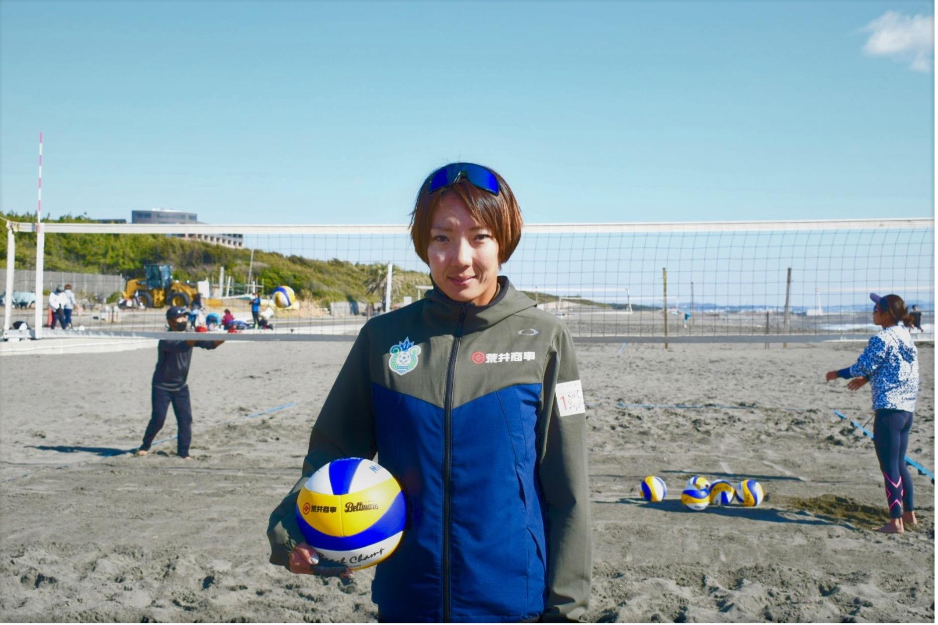 湘南ベルマーレ ビーチバレーボールに所属する石井美樹選手