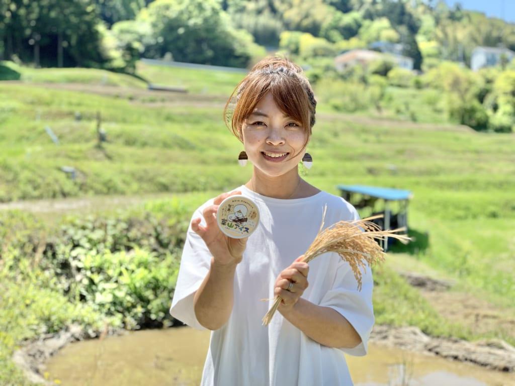葉山への恩返しから始まった夫婦の物語はより大きな希望を生み出していく!棚田アイスを作る山口冴希(やまぐちさき)さんのインタビューです!の画像